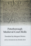 image of the dust jacket of Peterborough Medieval Court Rolls