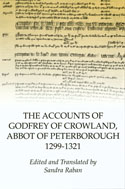 image of the dust jacket of The Accounts of Godfrey of Crowland, Abbot of Peterborough 1299-1321Rockingham Forest